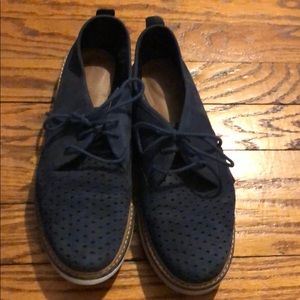 Clarks Lightweight Navy Suede Loafers/Boat Shoes